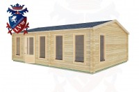 Log Cabins Birdham 7.5m x 5.5m -2122 2