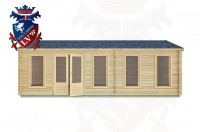 Log Cabins Birdham 7.5m x 5.5m -2122 1