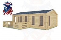 Log Cabins Earnley 7.5m x 4.5m -2121 2