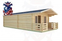 Log Cabins Three Bridges 4.0m x8.0m -2049 3