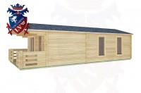 Log Cabins Three Bridges 4.0m x8.0m -2049 2