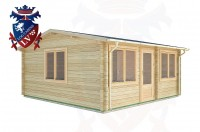 Log Cabins Apuldram 5.5m x 4.0m -2111 2