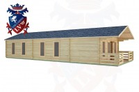 Log Cabins Southbourne 13.0m x 5.0m -2086 2
