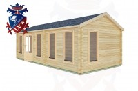 Log Cabins Ferring 7.7m x 3.5m -2124 3