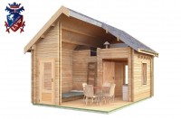 Log Cabin Playden 4.0m x 5.7m - 615 8