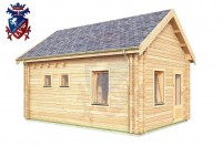 Log Cabin Downside 4.0m x 5.7m - 619 2