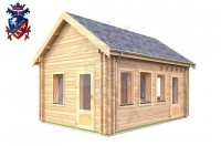 Log Cabin Downside 4.0m x 5.7m - 619 4
