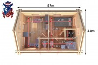 Log Cabin Norton 4.0m x 5.7m - 625 7