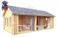 Log Cabin Heathfield 4.0m x 8.0m - 631 6