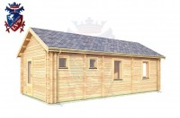 Log Cabin Langney 4.0m x 8.0m - 632 3