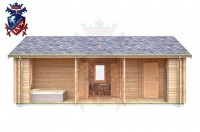 Log Cabin Langney 4.0m x 8.0m - 632 6