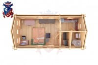 Log Cabin Mount Pleasant 4.0m x 8.0m - 634 4