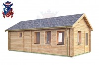 Log Cabin Seaford 4.0m x 8.0m - 636 2