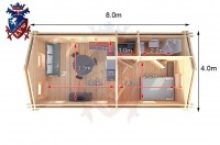 Log Cabin Seaford 4.0m x 8.0m - 636 5