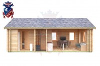 Log Cabin Seaford 4.0m x 8.0m - 636 6