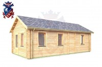 Log Cabin Folkington 4.0m x 8.0m - 639 3