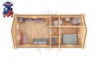 Log Cabin Folkington 4.0m x 8.0m - 639 4