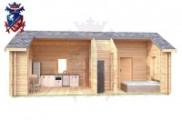 Log Cabin Folkington 4.0m x 8.0m - 639 6