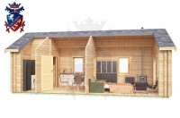 Log Cabin Broomgrove 4.0m x 8.0m - 642 6