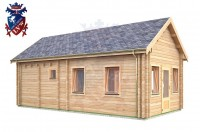 Log Cabin East Dean 4.0m x 8.0m - 643 3
