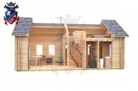 Log Cabin Hastings 4.0m x 8.0m - 648 8