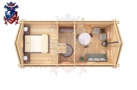 Log Cabin Newhaven 4.0m x 8.0m - 649 5