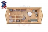 Log Cabin Newhaven 4.0m x 8.0m - 649 4