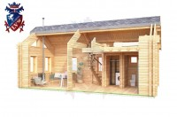 Log Cabin Newhaven 4.0m x 8.0m - 649 7