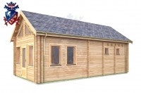Log Cabin Upperton 4.0m x 8.0m - 651 3