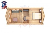 Log Cabin Upperton 4.0m x 8.0m - 651 6