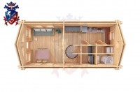 Log Cabin Upperton 4.0m x 8.0m - 651 5