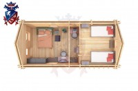 Log Cabin Clive Vale 4.0m x 8.0m - 659 6