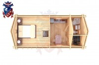 Log Cabin Maresfield 4.0m x 8.0m - 664 6