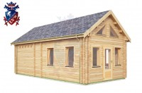 Log Cabin Stone Cross 4.0m x 8.0m - 665 3