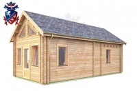 Log Cabin Stone Cross 4.0m x 8.0m - 665 2