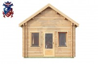 Log Cabin Stone Cross 4.0m x 8.0m - 665 4