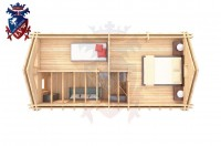 Log Cabin Exceat 4.0m x 8.0m - 667 5