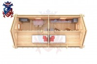 Log Cabin Broad Oak 4.0m x 8.0m - 668 6