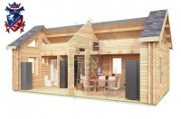 Log Cabin Broad Oak 4.0m x 8.0m - 668 8