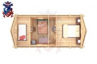 Log Cabin Crowborough 4.0m x 8.0m - 672 6