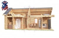 Log Cabin Crowborough 4.0m x 8.0m - 672 8