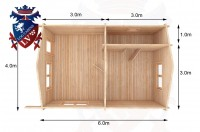 Log Cabins Eastbourne 4.0m x 6.0m - 016 2