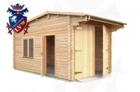 Log Cabins Five Ash Down 2.95m x 5.35m - 044 2