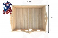 Log Cabins Forest Row 5.0m x 4.0m - 057 5