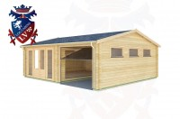 Log Cabins West Hill 7.0m x 6.0m - 165 3