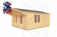 Log Cabins Cock Marling 4.0m x 5.0m - 181 2