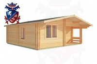 Log Cabins Crowborough 6.0m x 7.0m - 200 2