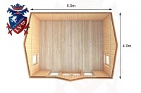 Log Cabins Wannock 5.0m x 4.0m - 274 5
