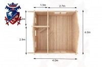 Log Cabins Milland 4.0m x 4.0m -318 5
