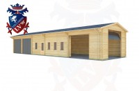 Log Cabins Wilmington Green 20.0m x 5.9m - 456 3